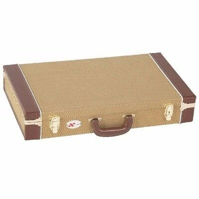 Vintage Style Guitar Effects Pedal Road Case Tweed Covered Tan *new*