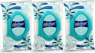 Always Feminine Wipes Fresh & Clean 32ct ( 3 pack ) FRESH PHARMACY STOCK!