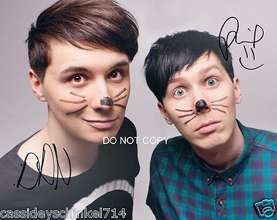 """Dan and Phil Reprint Signed 8x10"""" Photo RP Autographed #1 YouTube"""