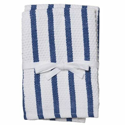Gourmet Classics Casserole Kitchen Dish/Wash Towel Cloth Set Of 2 Cotton Blue