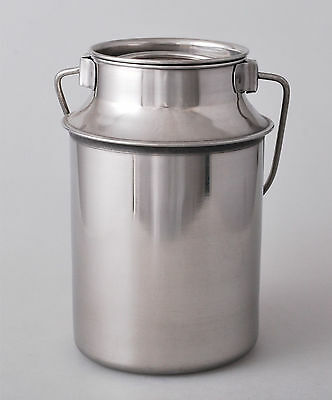 Stainless Steel Milk Can 4L Bottle Canister Container Jug Pail Liquid with lid