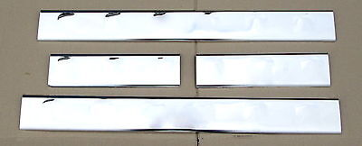 Chrome door Step Entry sill Plate for Nissan Navara D40  4 door NEW SCUFF PLATE