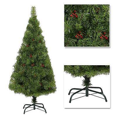 Elegant Artificial Christmas Tree Boulder Pine with Berry Xmas Decorations