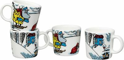 Moomin Minimugs 4 pcs Snowhorse Winter 2016 / Lumihevonen Finland *NEW