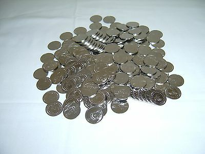 200  =New= Stainless Steel Non-Magnetic Skill Slot Machine Tokens - Pachislo