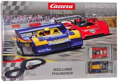 Carrera Evolution Rolling Thunder Slot Car Set