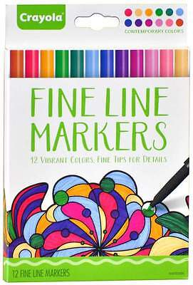 Crayola Fine Line Markers Contemporary Colours 12 Pack (7714)