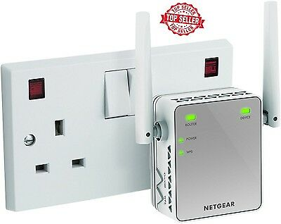 WiFi Signal Range Booster Wireless Network Extender Amplifier Internet Repeater