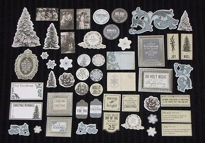 Kaisercraft 'FROSTED' Collectables Die Cut Shapes Xmas/Santa/Winter KAISER