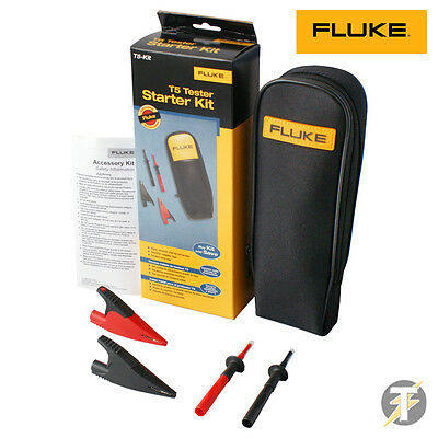 Genuine Fluke T5 Starter Kit croc clips, test probes - TP238, AC285 + C33 Case