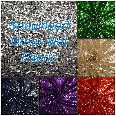 Sequin Tulle Sparkle Dance Evening Dress Wedding Halloween Backdrop Craft Fabric