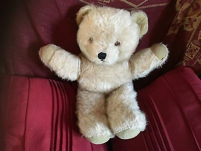 "Vintage Chad Valley Chiltern Beige Mohair 18"" Soft Toy Teddy Bear Vgcc"
