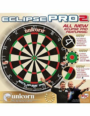 Unicorn Darts Eclipse Pro 2 Bristle Board PDC Quality Competition Dartboard