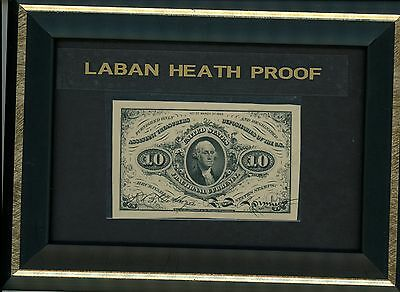 Ten Cent Note Third Issue Fractional Currency Laban Heath Proof 1870's Superb