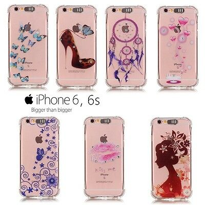Etui coque housse Silicone transparente Strass TPU Soft case cover iPhone 6, 6s