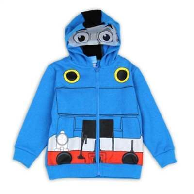 NEW! BOYS TODDLER ◉ THOMAS THE TRAIN TANK Zip-Up Hoodie Sweatshirt Size 2T-3T-4T