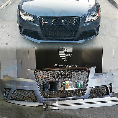 Audi A4 B8 to RS4 TYPE Front Bumper Facelift ABS PP plastic thick honeycomb gril