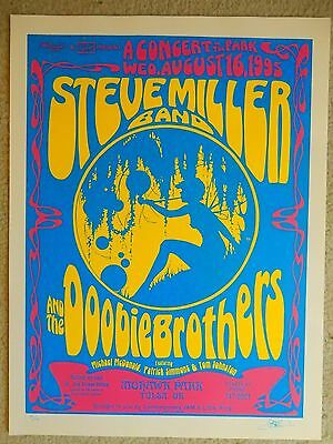 Steve Miller Band 1996 Tulsa OK Concert Poster David Dean Art Signed Numbered