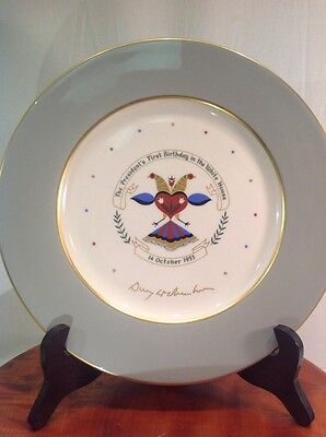 Antique Vintage Presidential 1953 Dwight Eisenhower Birthday Plate The Real One