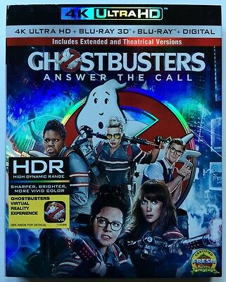 Ghostbusters Answer The Call 4K Ultra Hd 1 Disc Only + Slipcover Sleeve No Art