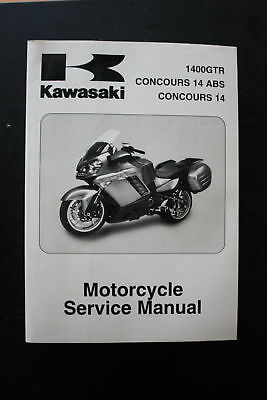 Genuine Kawasaki Service Workshop Manual  1400Gtr/ Concours 14 Abs/ Concours 14