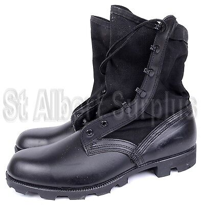 CANADIAN ARMY JUNGLE BOOTS - size 11 R (REGULAR WIDTH) - BLACK - NEW - 19K-A7