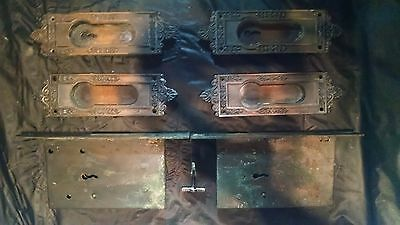 Antique Pocket Door Hardware Russell and Irwin with Key