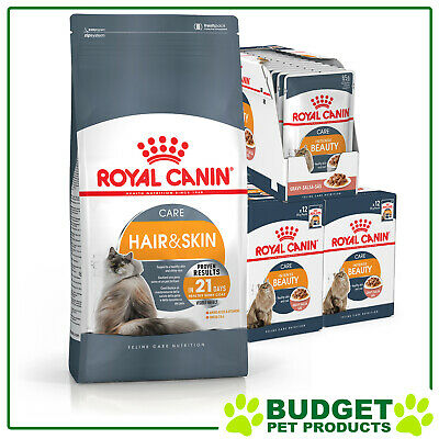 Royal Canin Monthly Bundle Cat Food Hair and Skin Care For Adult Cats
