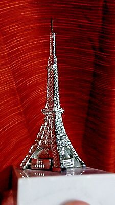 Metal Tokyo Tower Japan on marble souvenir building architecture model 6 inches