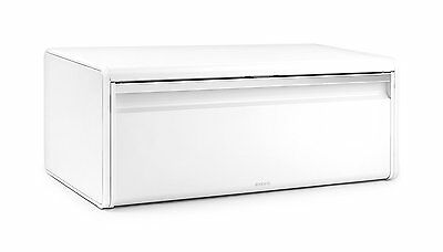 Brabantia Fall Front Bread Bin Soft Touch Closing Opening System Tin White