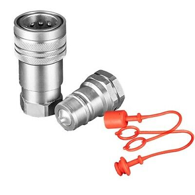 "Flowfit Hydraulic Iso A Quick Release Couplings 1/2""Bsp Thread & Plug/Cap"