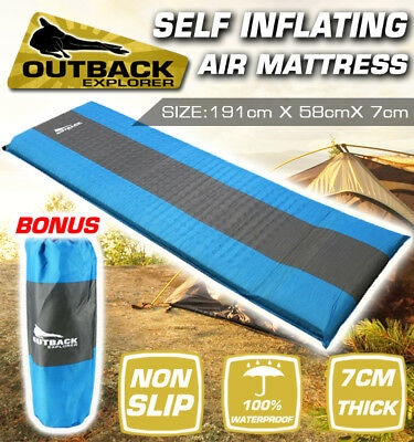 Air Bed Self Inflating Mattress Foldable Inflatable Camping Hiking Mat 7cm thick