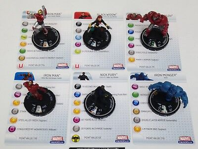 Heroclix Marvel Classic Fast Forces COMPLETE lot of 6 figures!