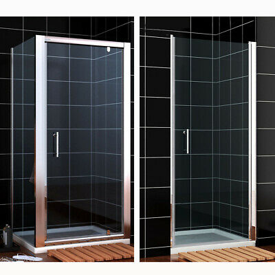Pivot Shower Door Enclosure and Tray Frameless Framed Hinge Cubicle Glass Screen