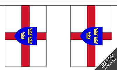 Essex British County 3 metre long 10 flag bunting