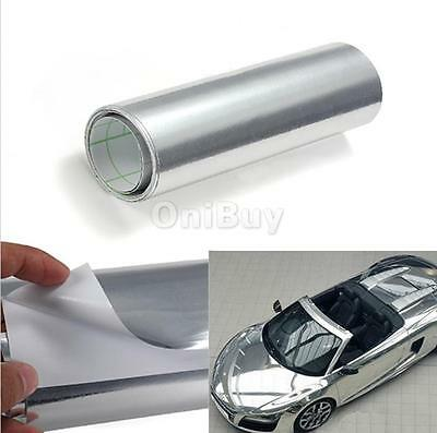 Argent New Car Buggy Sticker Wrap Sheet Vinyl Cover Mirror Chrome Film Decal