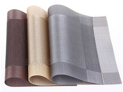 4x Dining Table Mat Pad PVC Dinnerware Placemat Insulation Kitchen Restaurant IC