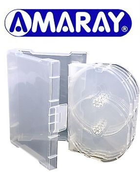 2 x 9 Way Clear Megapack DVD 32mm [9 Discs] New Empty Replacement Amaray Case