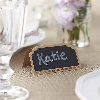 SALE! Ginger Ray pack of 10 chalkboard vintage place cards with die cut detail