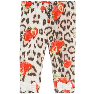 Roberto Cavalli Baby Leopard Strawberry Leggings 24 Months