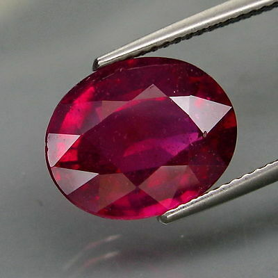 7,28 CTS EXCELENTE.RUBI  NATURAL - BIG Top Red Pink Ruby Mozambique