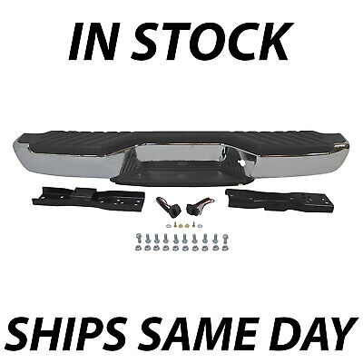 New Chrome - Complete Steel Rear Bumper Assembly for 1998-2004 Nissan Frontier