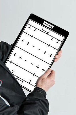 AcrilSports 2 sided Rugby Coaches Board Tactical Kit Dry Erase w/ Marker