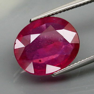 8.42 CTS EXCELENTE.RUBI  NATURAL - BIG Top Red Pink Ruby Mozambique