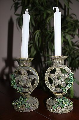 Pentacle Pentagram Ivy Candle Candles Holder Alter Wicca Wiccan Pagan Decor