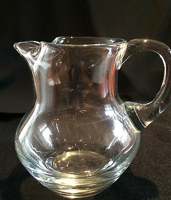 SIGNED TIFFANY & CO VINTAGE   Clear Round Pitcher