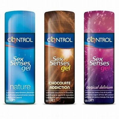 3x Control SexSenses lubricante // nature // tropical // chocolate // 150ml
