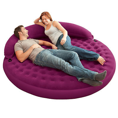 Purple Intex Ultra Daybed Lounge Airbed Inflatable Air Mattress Full Size - USED