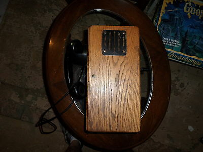 145-W-M, Wall Type Magneto Phone, Wooden Box, Operational