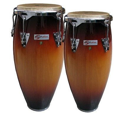 Coppia Congas Soundsation  Sco10-Sb 10 +11″  Sunburst  Hw-Bk